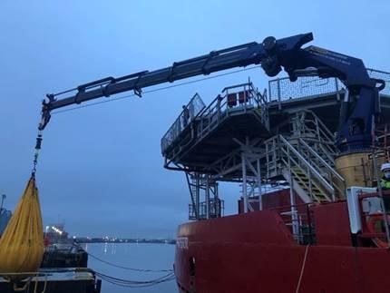 military marine crane