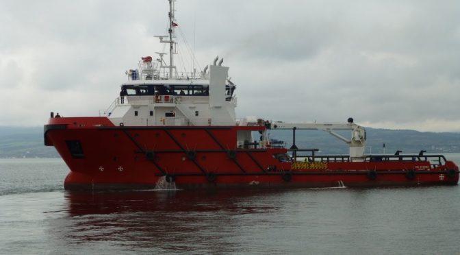 service vessel palfinger crane